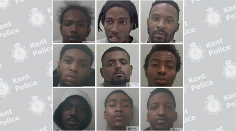 Nine men jailed